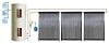 Бак 500 ли с 2 теплообменниками и ТЭНом, 5 солнечных коллекторов из 24 тепловых трубок Зима 500 (120)